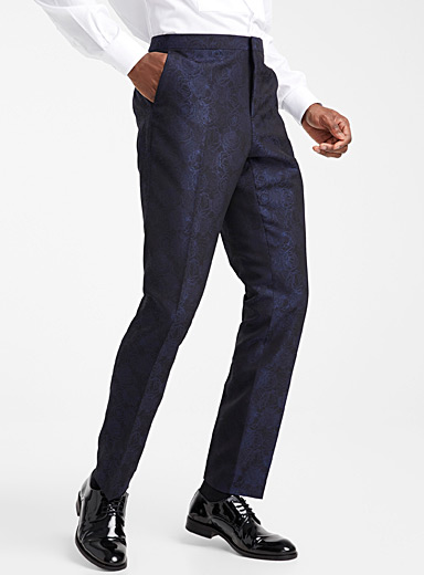 Metallic rose tuxedo pant <br>Stockholm fit-Slim