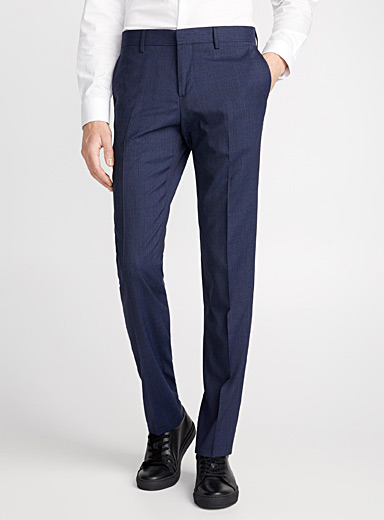 Micro-houndstooth heathered pant <br>Stockholm fit - Slim