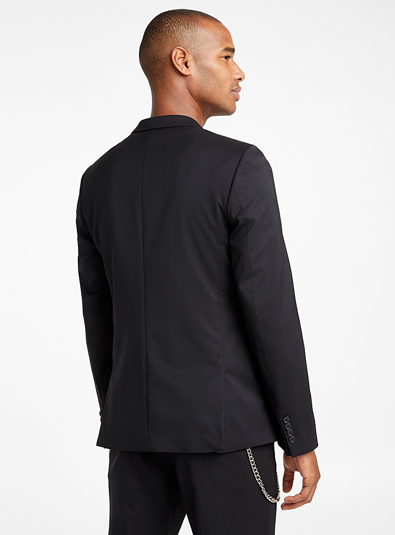 Italian Marzotto wool jacket  Stockholm fit - Slim   - Suit Separates - Black