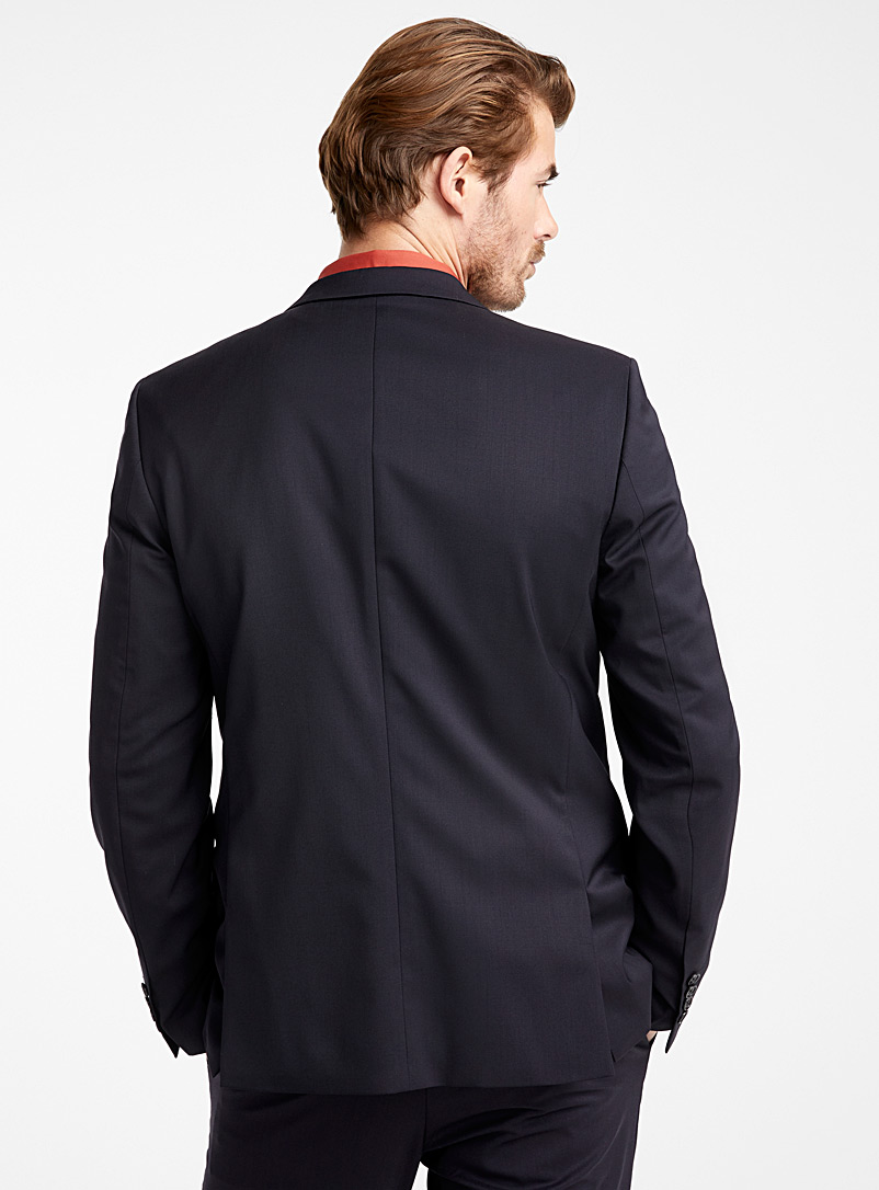 Italian Marzotto wool jacket  Stockholm fit - Slim   - Suit Separates - Marine Blue