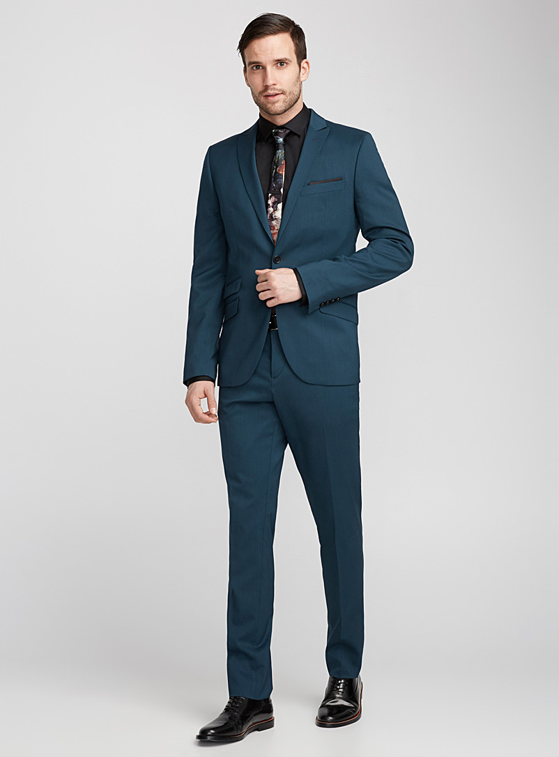 Italian Marzotto wool jacket  Stockholm fit - Slim   - Suit Separates - Teal