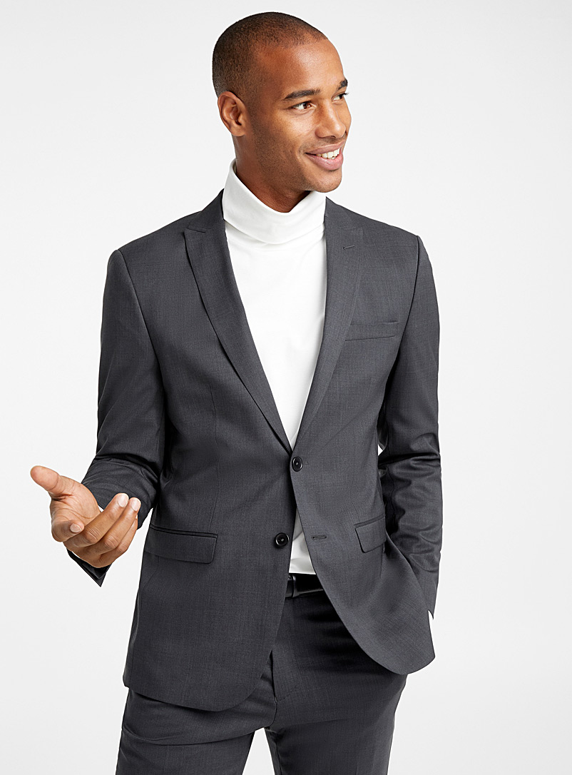 Marzotto pure wool jacket  Stockholm fit - Slim - Slim Fit - Oxford
