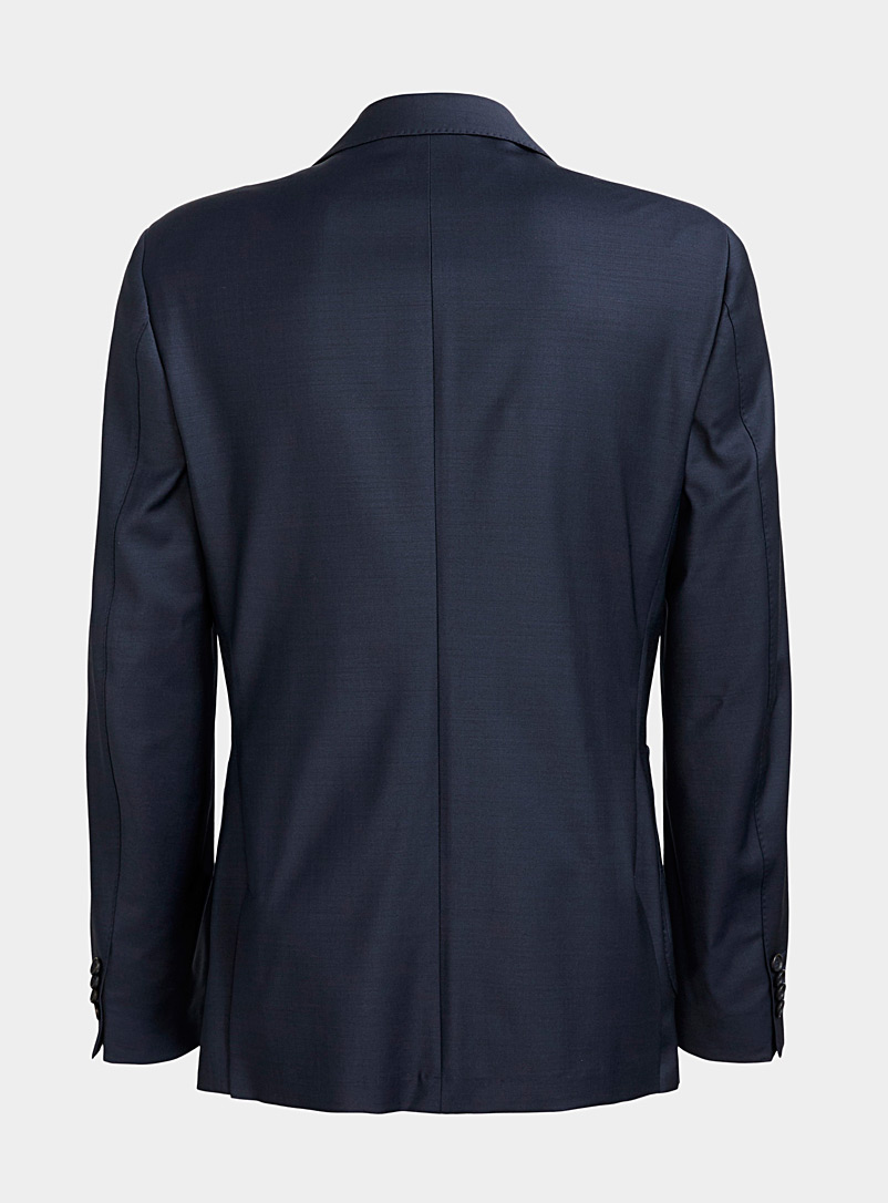 Le 31 Marine Blue Dark blue double-breasted jacket for men