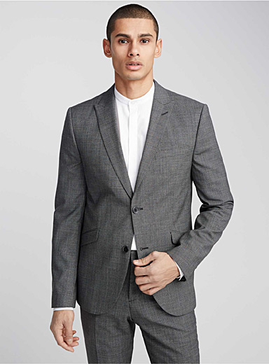 Micro-houndstooth heathered jacket <br>Stockholm fit - Slim