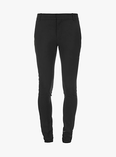 Black wool chic trousers