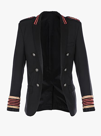 Embroidered band blazer
