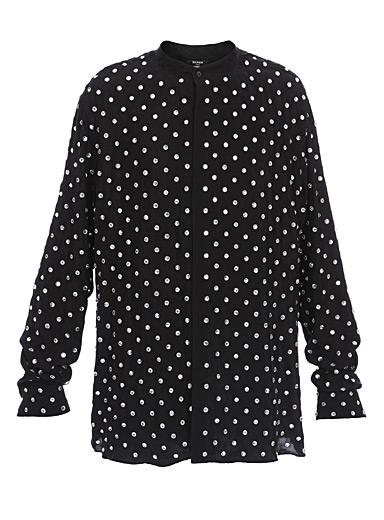 Balmain Patterned Black Dotted utility shirt for men