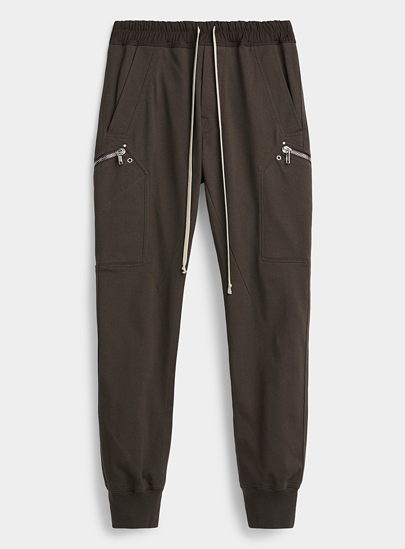 Rick Owens Patterned Grey Cargo joggers for men