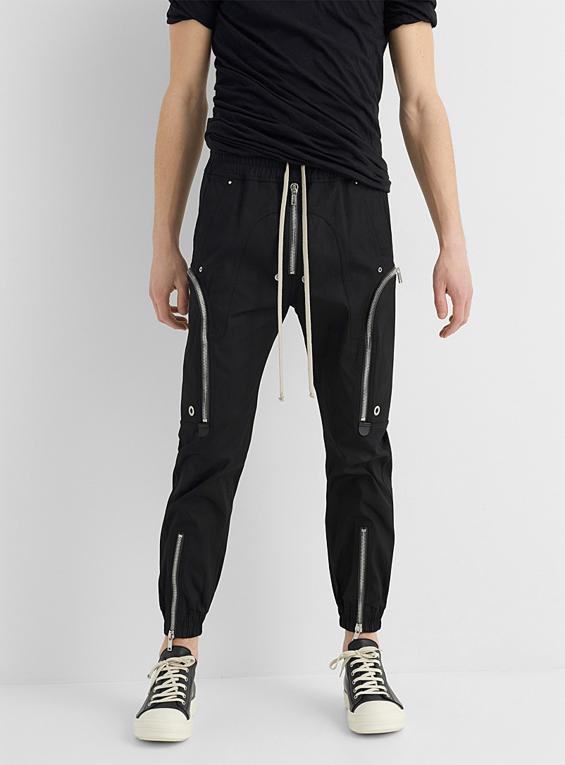 Rick Owens Black Bauhaus cargo pant for men