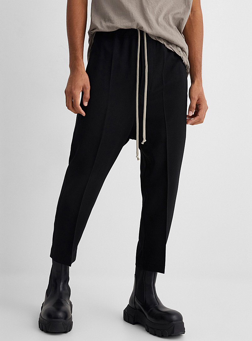 Rick Owens Black Astaire cropped pant for men
