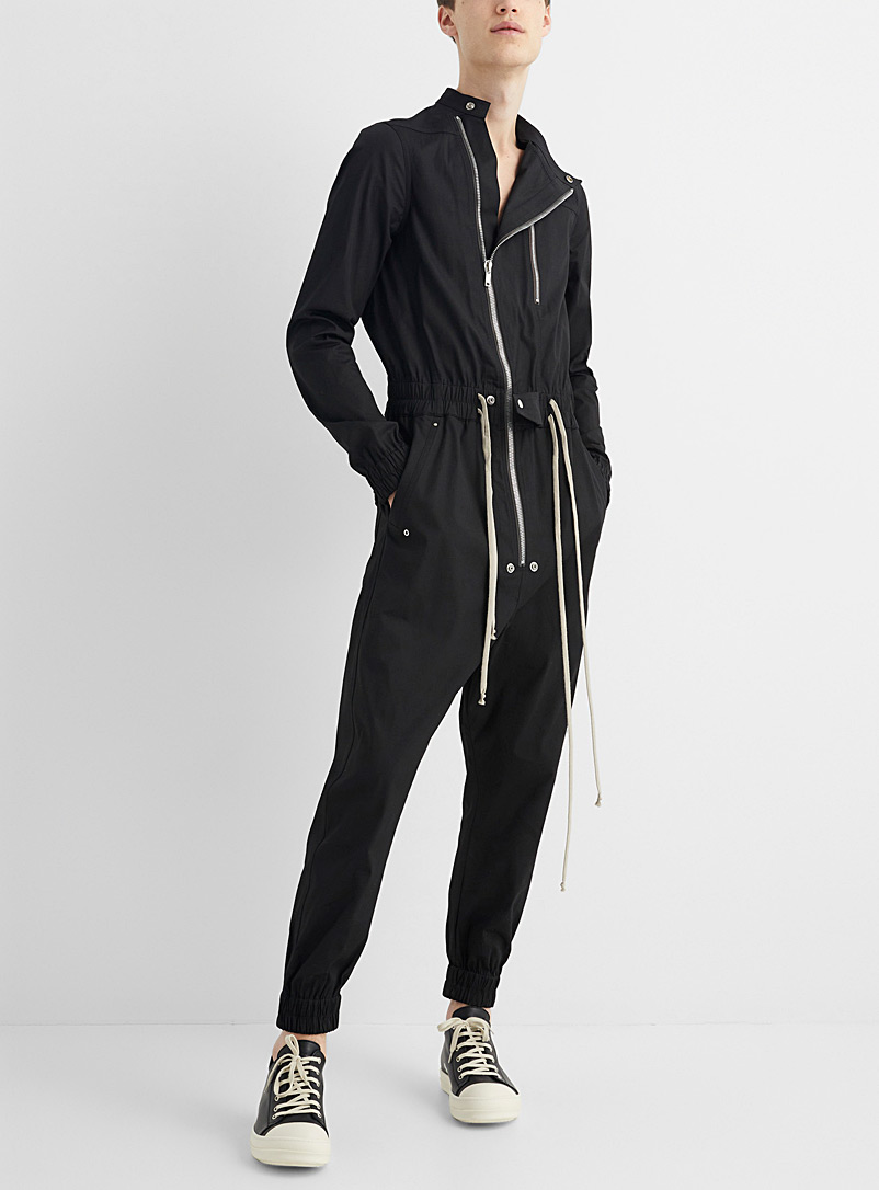 Rick Owens Black Gary jumpsuit for men
