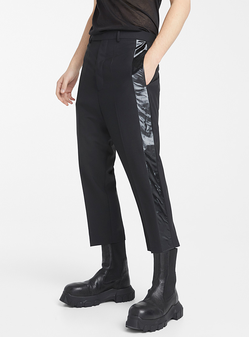 Rick Owens Black Astaires cropped pant for men