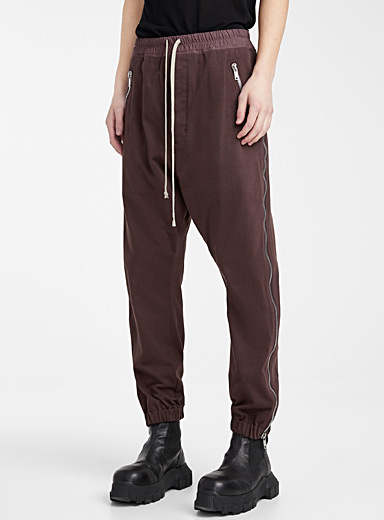 Rick Owens Red Tecuatl track pant for men