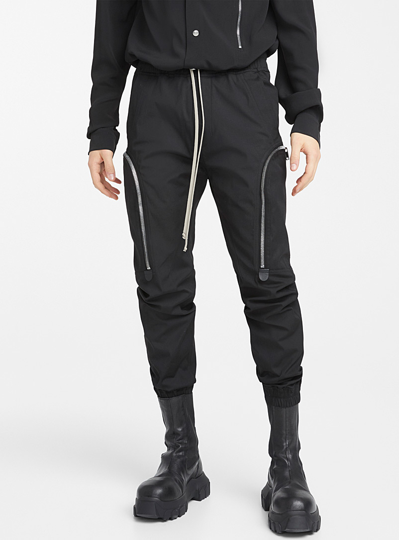 Rick Owens Black Tecuatl cargo joggers for men