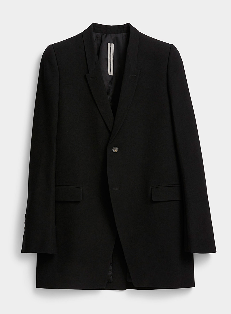 Rick Owens Black Tatlin jacket for men