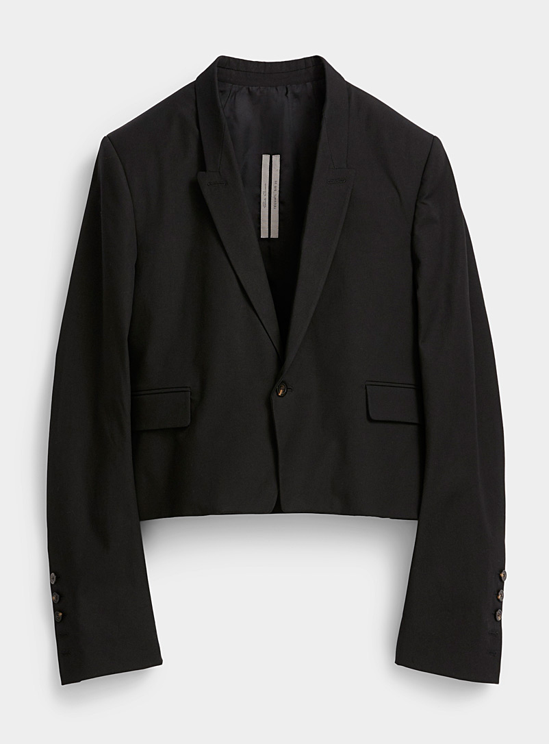 Rick Owens Black Spencer-style jacket for men
