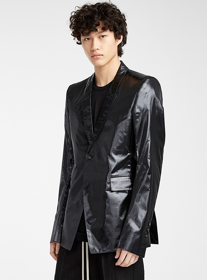 Rick Owens Black Shiny Extreme Soft jacket for men