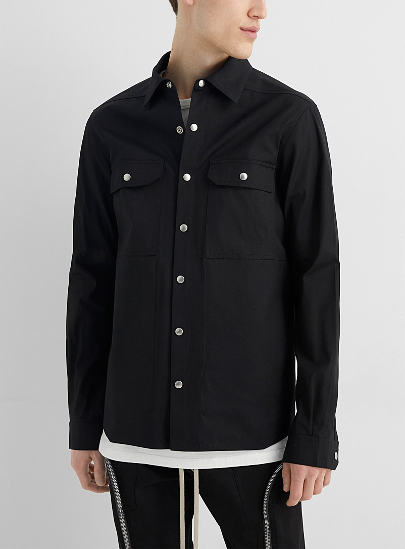 Rick Owens Black Cotton overshirt for men