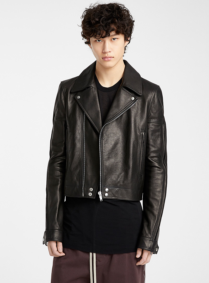 Rick Owens Black Dracubiker biker jacket for men