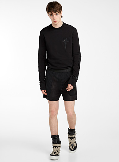 Rick Owens Black Champion basketball short for men