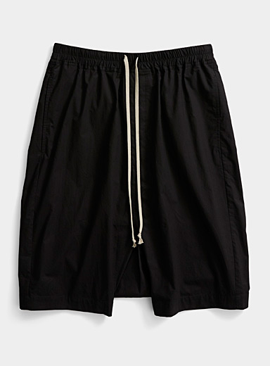 Rick Owens Black Rick's Pods cropped pant for men