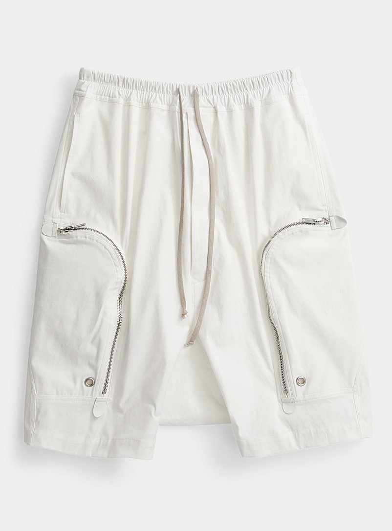 Rick Owens White Bauhaus Pods Bermudas for men