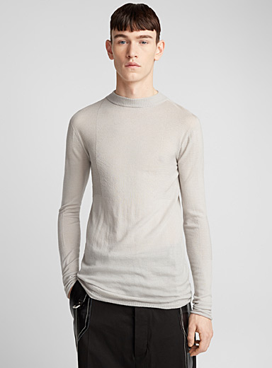 Ribbed insert sweater