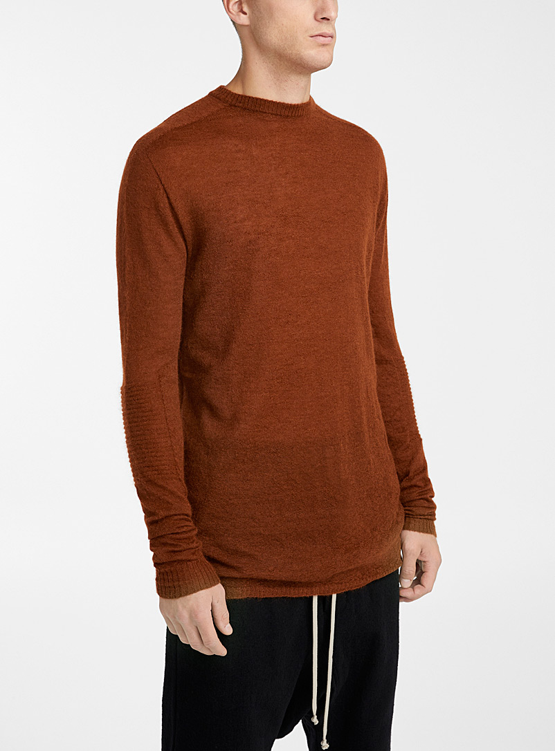 Rick Owens Copper Solid oversized sweater for men