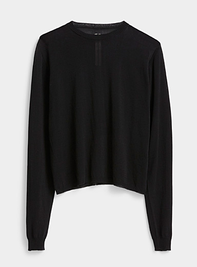 Rick Owens Black Biker sweater for men