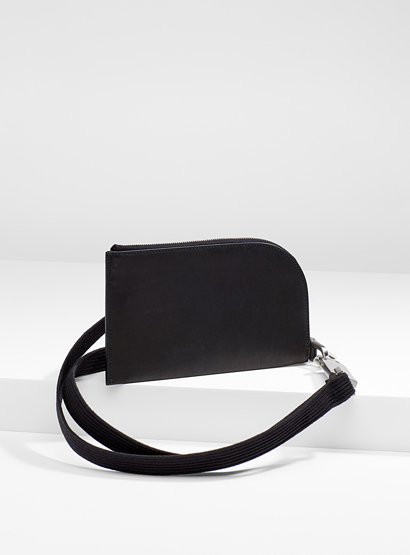 Wallet with strap - Rick Owens - Black