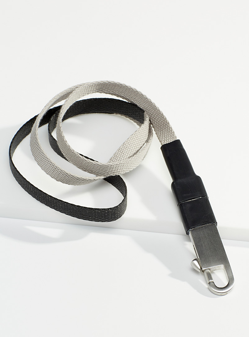 Rick Owens Black Industrial wrist strap for men
