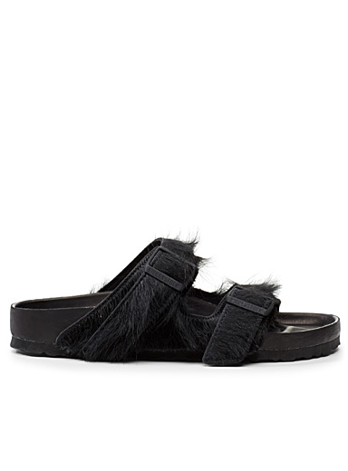 Rick Owens x Arizona Exquisite fur sandals <br>Men