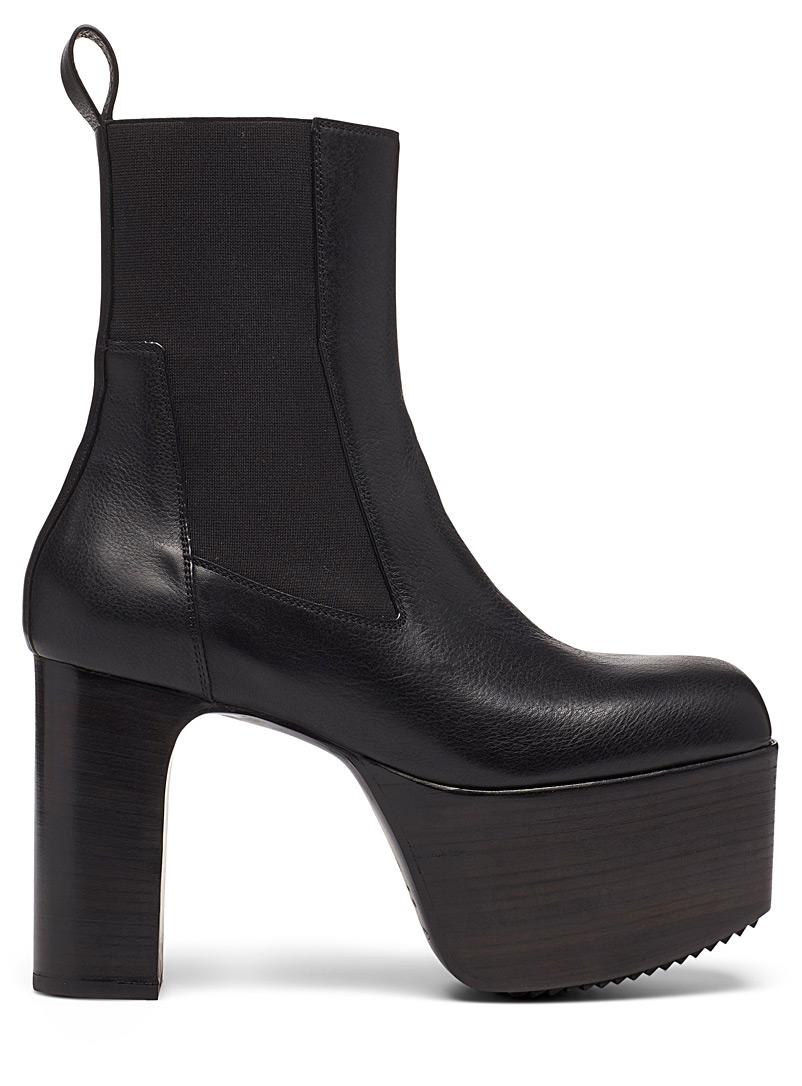 Rick Owens Black Performa Kiss platform boots for men