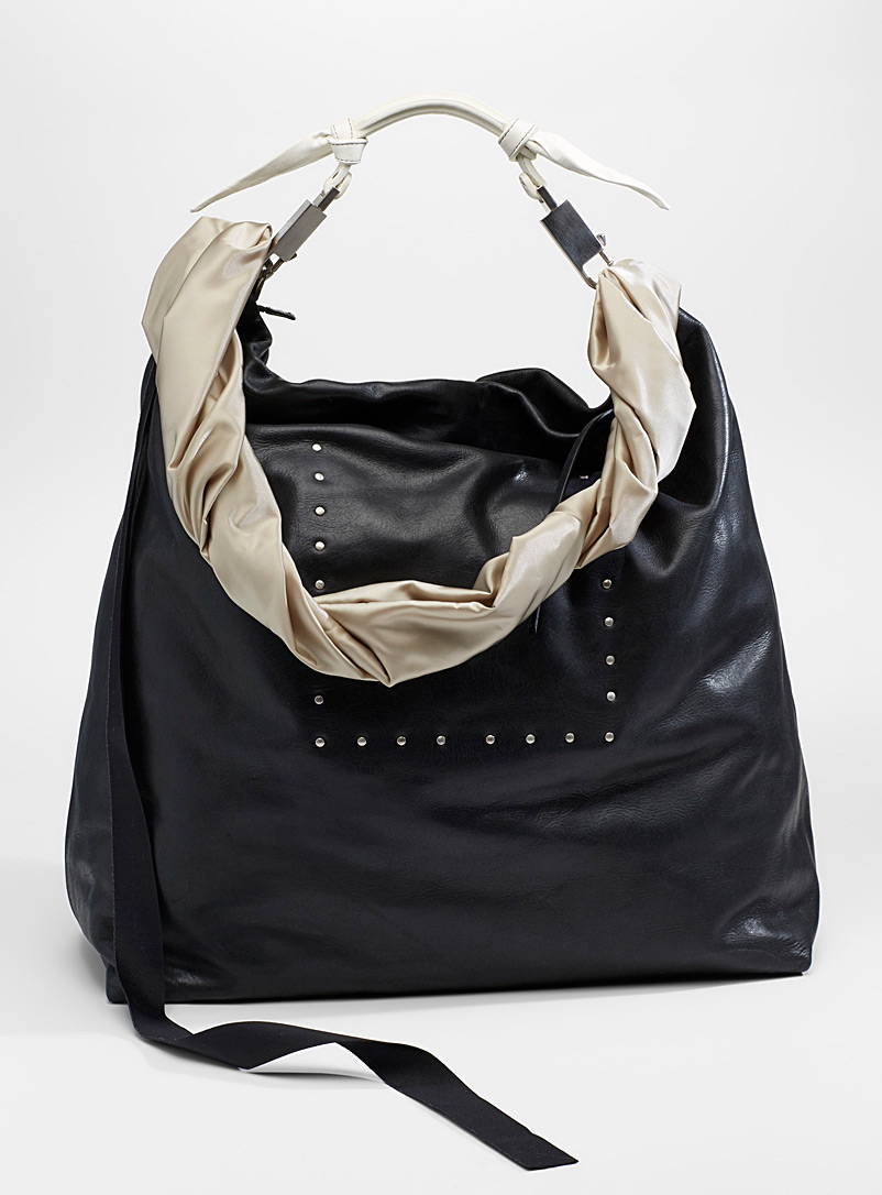 Rick Owens Black Oversized shoulder bag for men