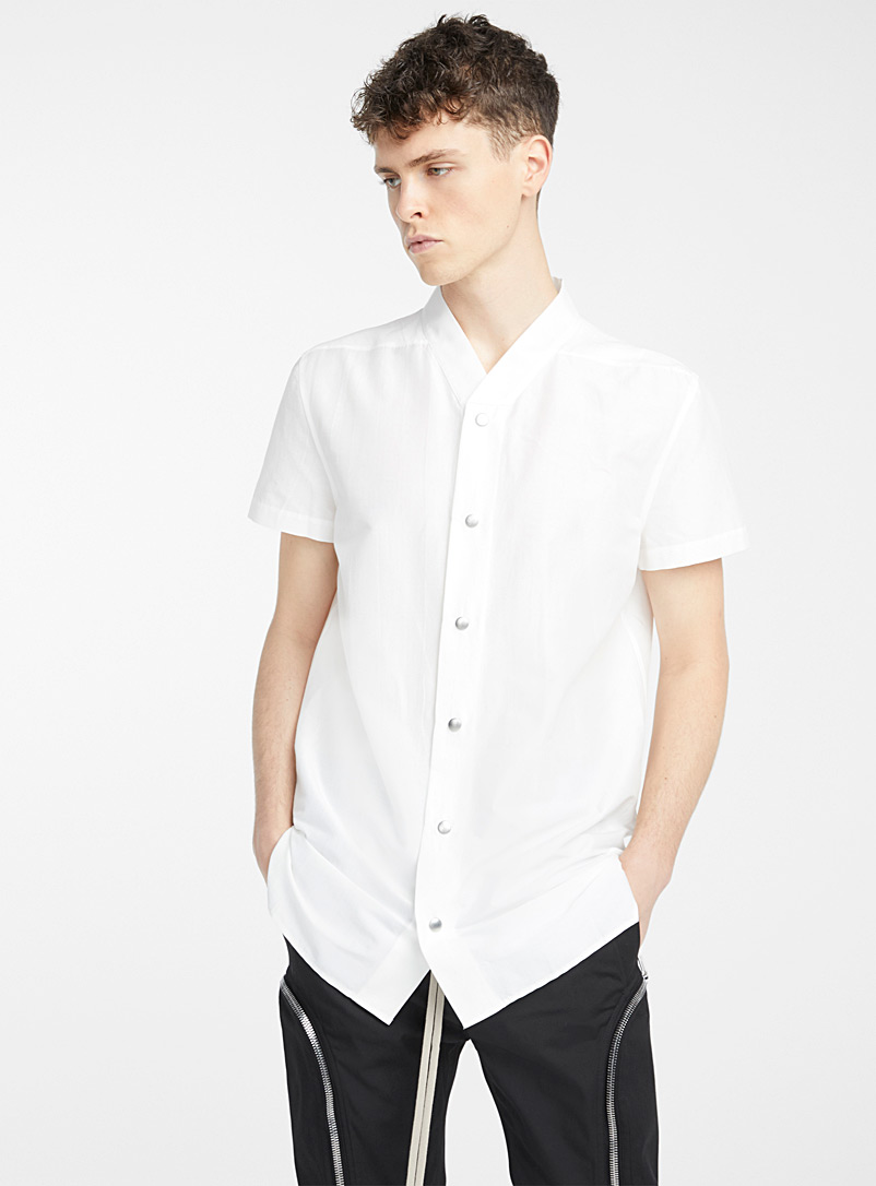 Rick Owens Ivory White Golf shirt for men