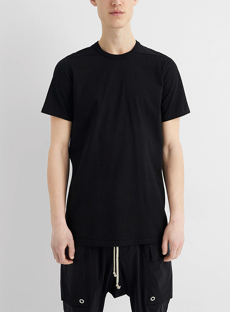 Rick Owens Black Level shoulder-seam long tee for men