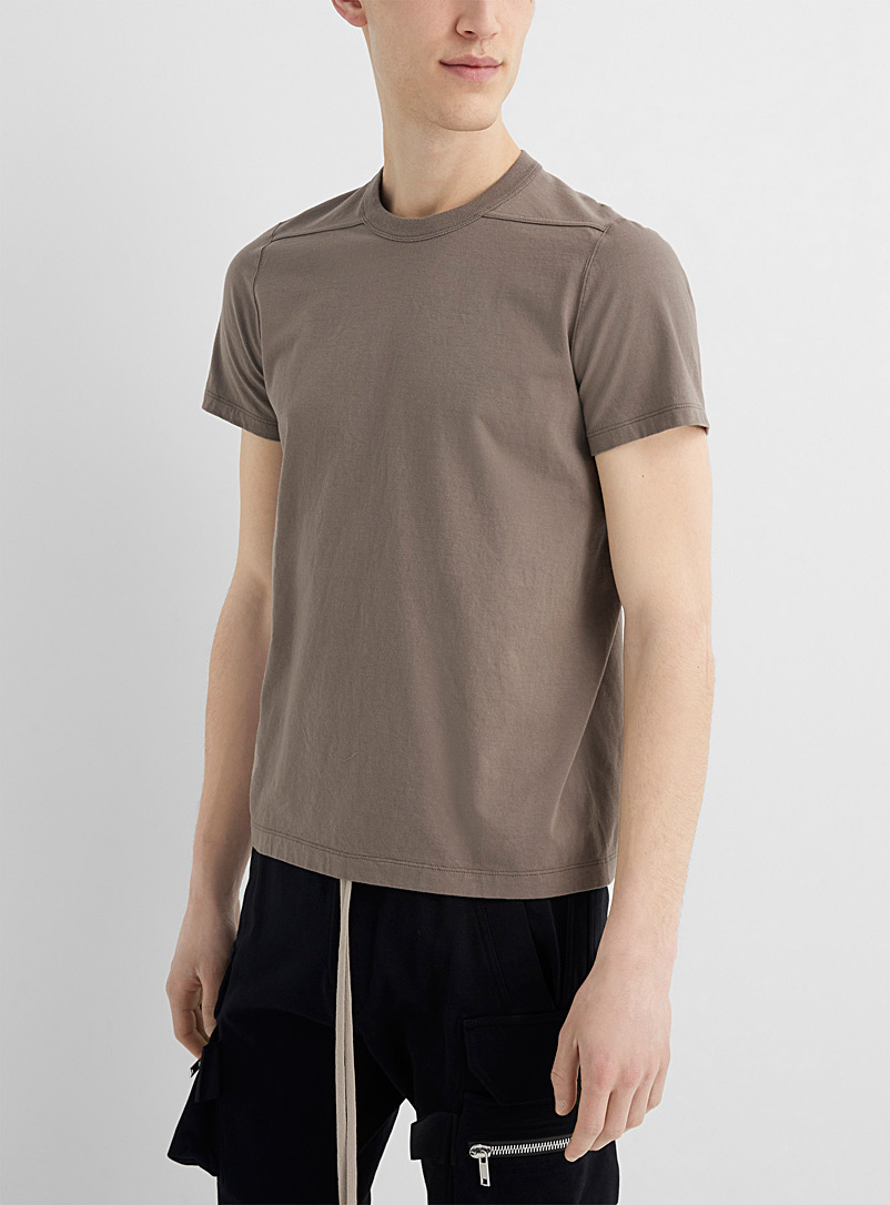Rick Owens Ivory White Level shoulder-seam T-shirt for men