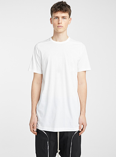 Rick Owens Ivory White Chalk Level T-shirt for men