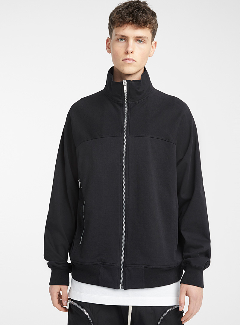 Rick Owens Black Classic zipped sweatshirt for men