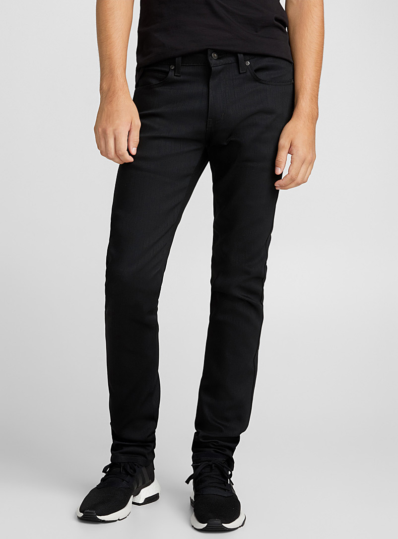 Dark black stretch jean  Super skinny fit
