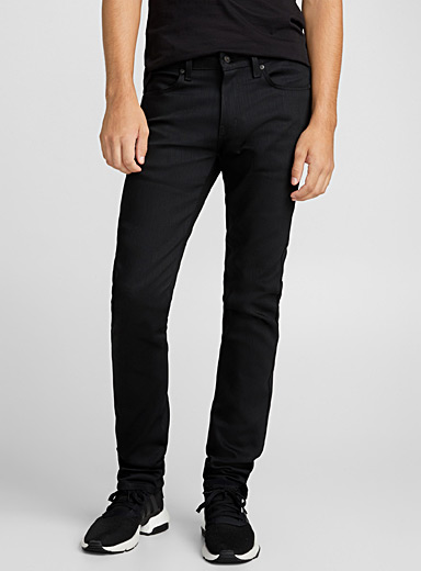 Naked and Famous Denim Black Dark black stretch jean  Skinny fit for men