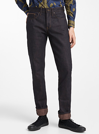 Le jeans Weird Guy selvedge Chestnut <br>Coupe droite