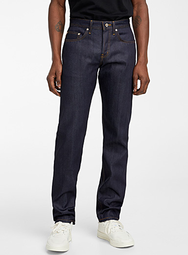 Naked and Famous Denim Marine Blue Indigo raw Selvedge jean  Straight fit for men