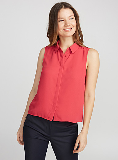 Fluid cropped shirt