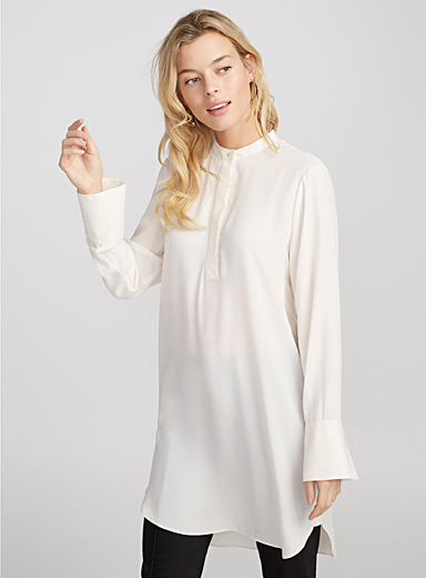 Fluid crepe tunic
