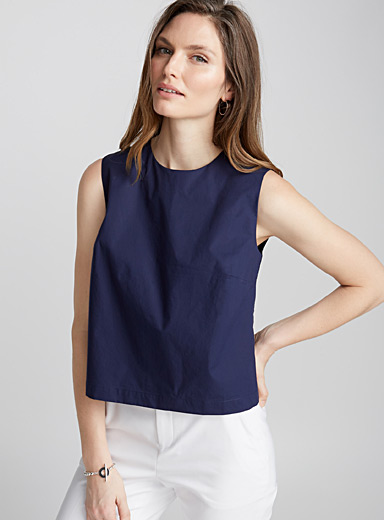 Cropped poplin camisole