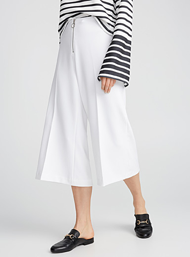 Ring-pull zip culottes