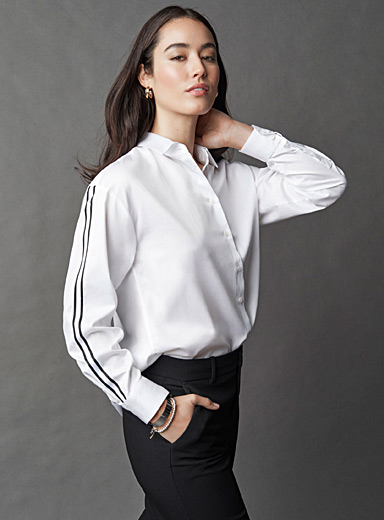 Athletic-stripe shirt