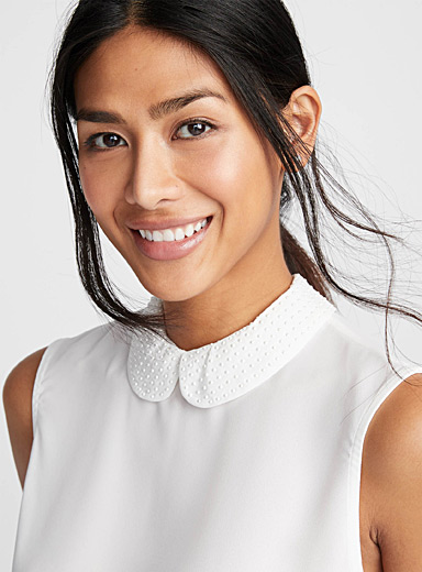Pearly Peter Pan collar camisole