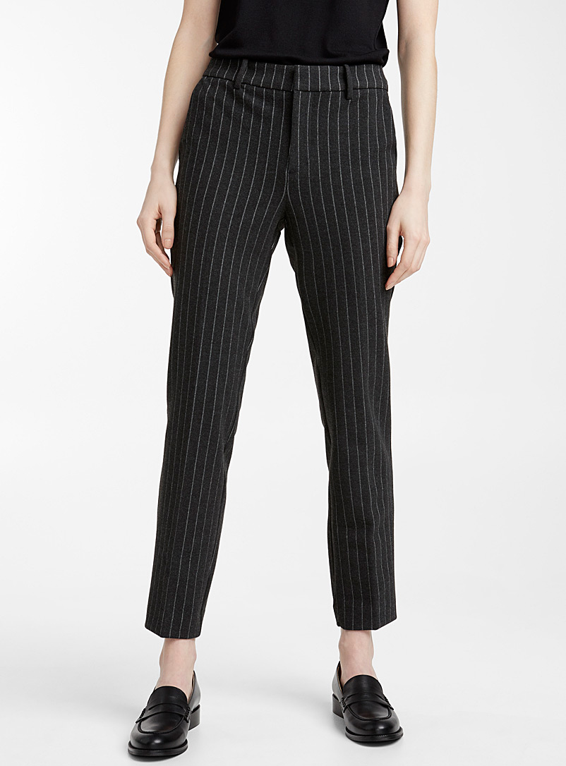 Chic-pattern structured jersey pant - Pants - Patterned Grey
